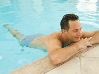 Se baigner après un piercing