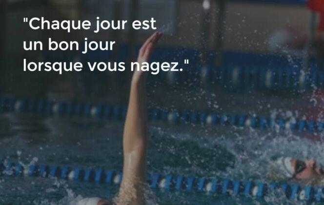 Se motiver pour aller nager : les citations Coach Nage en photos ! DR