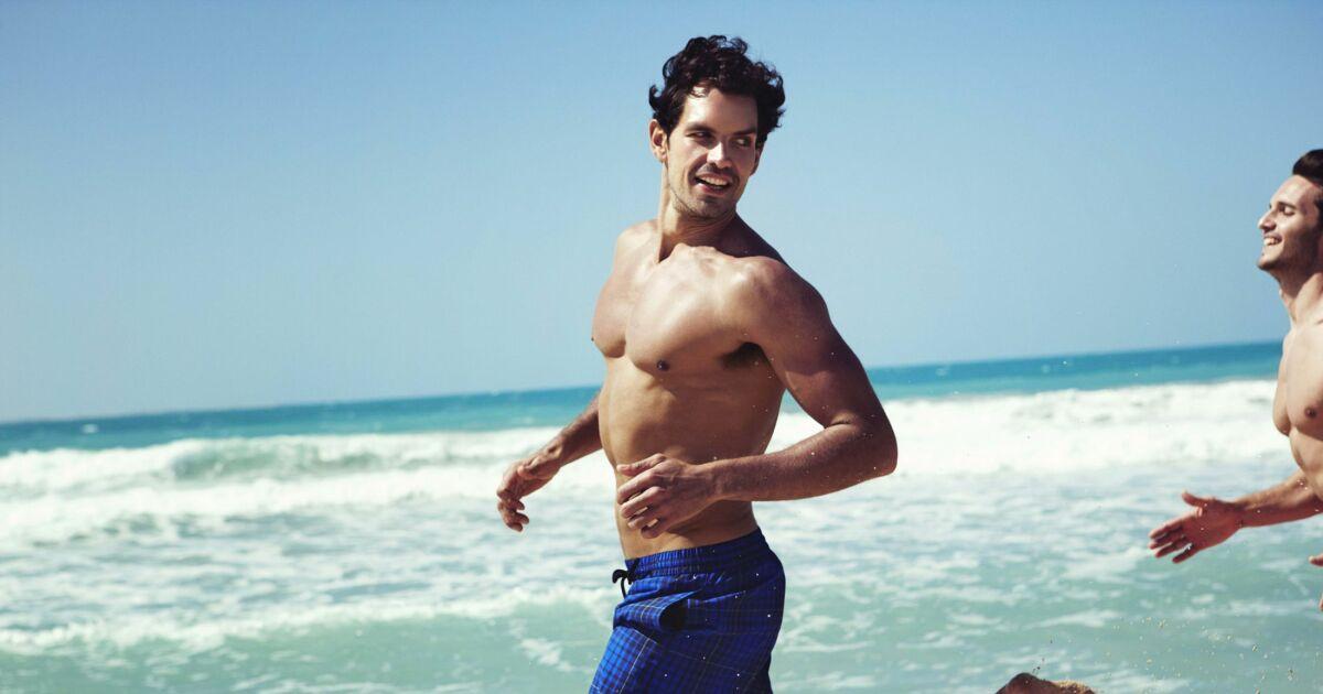 Boardshort plage homme carreaux bleu speedo t 2013 for Short de bain piscine