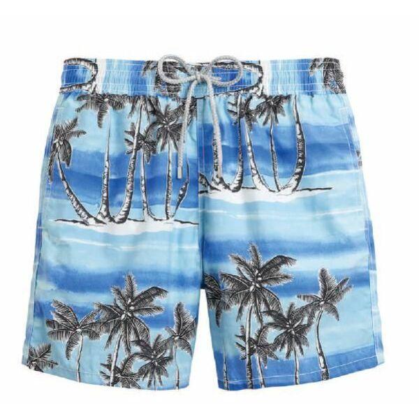 Short de bain pour homme motif palmiers tuamotu for Short de bain piscine