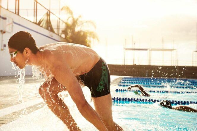 Short de bain court noir homme piscine Speedo Swim Fitness 2014