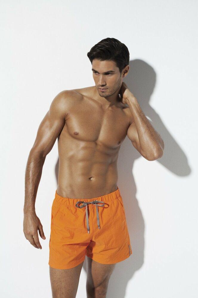 Short de bain orange homme SHAN