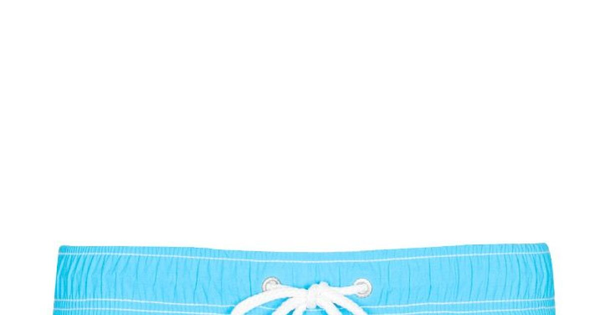 Short de bain homme uni bleu lagon soobaya t 2013 for Short piscine homme