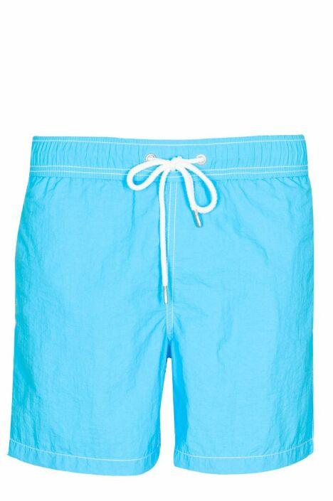 """Short de bain homme uni bleu lagon Soobaya été 2013<span class=""""normal italic petit"""">© Soobaya</span>"""