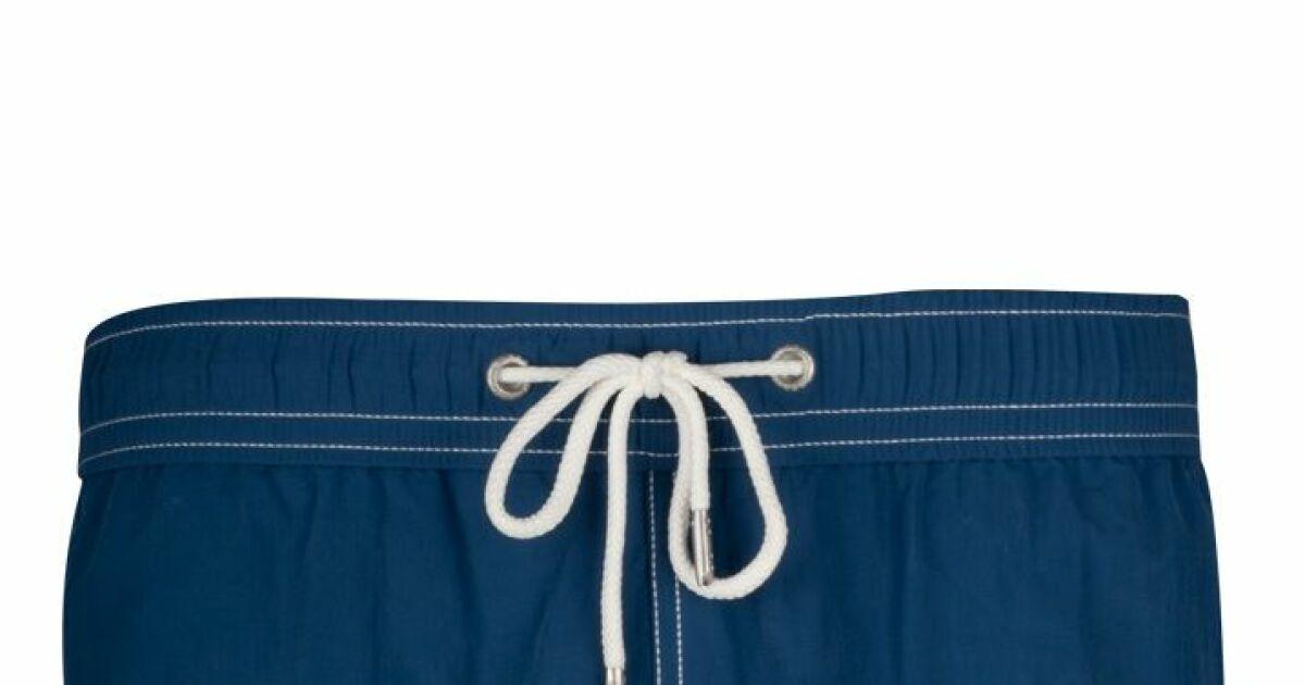 Short de bain homme uni bleu marine soobaya t 2013 for Short piscine homme