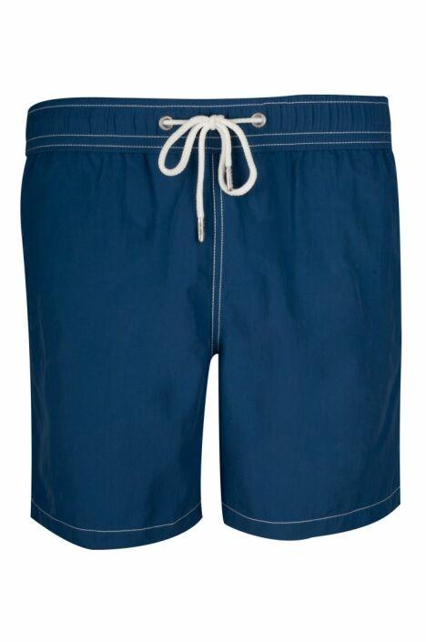 """Short de bain homme uni bleu marine Soobaya été 2013<span class=""""normal italic petit"""">© Soobaya</span>"""