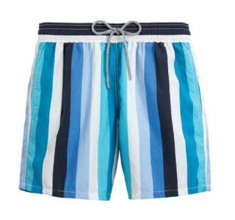 """Short de bain pour homme à rayures verticales coloris Lagon Vilebrequin<span class=""""normal italic petit"""">© Vilebrequin</span>"""