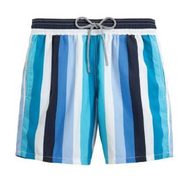Short de bain pour homme à rayures verticales coloris Lagon Vilebrequin