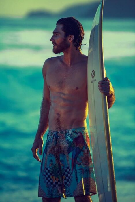 """Short de bain pour homme motif brésilien<span class=""""normal italic petit"""">© Blue Man</span>"""