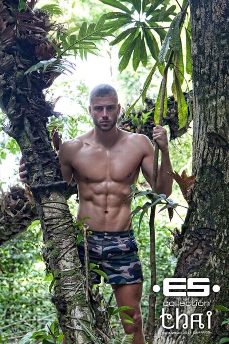 Short de bain pour homme motif camouflage