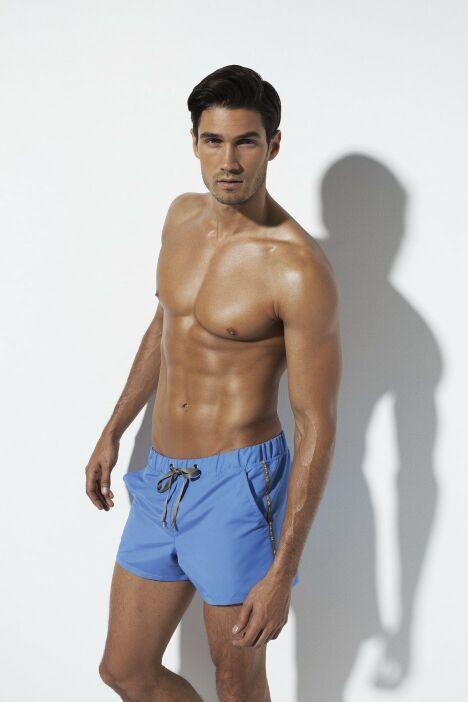 Short de bain bleu homme SHAN