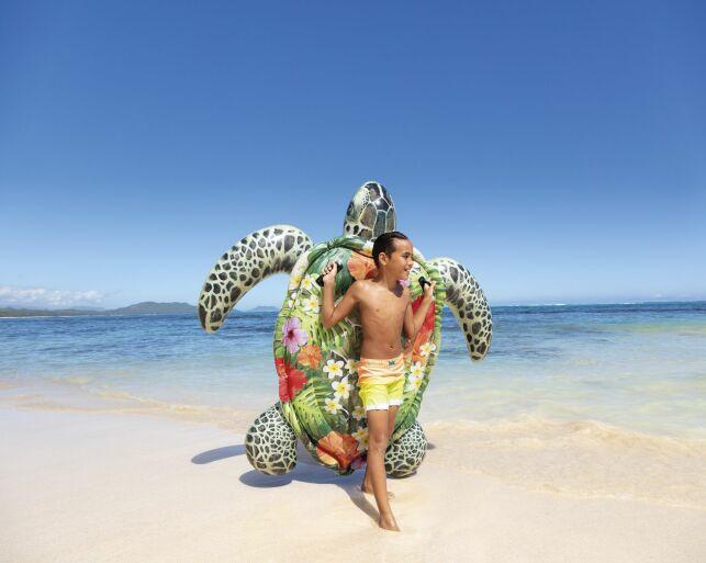 Si vous aimez les tortues, vous allez adorer lézarder sur cette bouée !