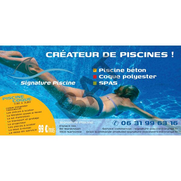 Signature piscine narbonne pisciniste aude 11 for Piscine narbonne