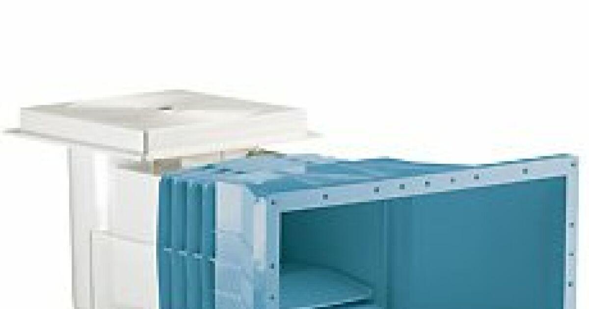 Skimmer 15 litres grande meurtri re bleu astralpool for Skimmer piscine