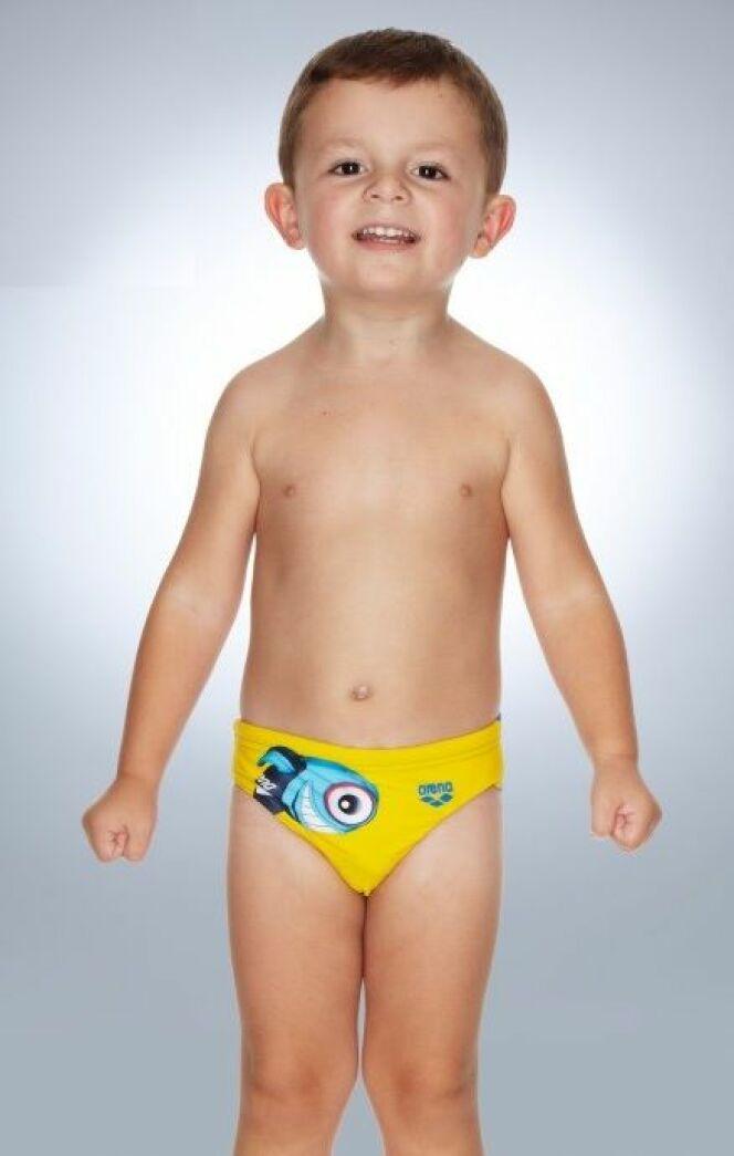 Slip de bain pour enfant garçon jaune cartoon