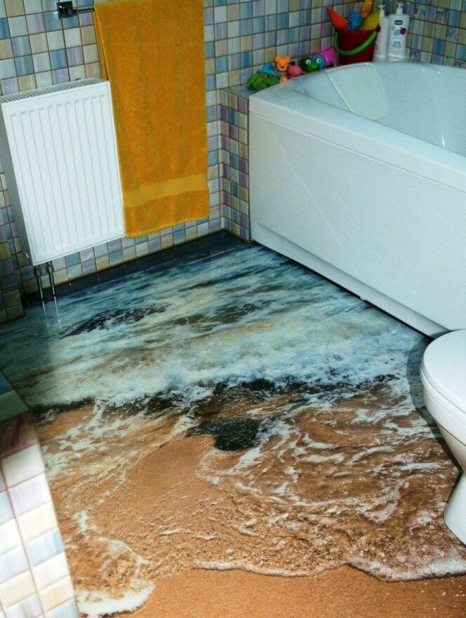L\'idée déco ouf du mois pour votre salle de bain : les sols ...