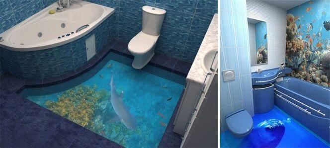 Invitez le lagon dans vos toilettes.