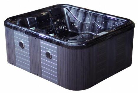 spa début de gamme, bleu, détente, balnéo, bain à remous, eau chaude
