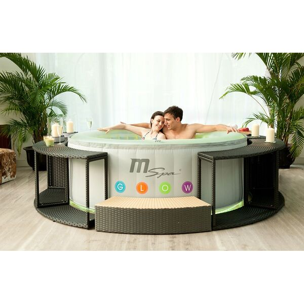 Spa gonflable 4 places oasis glow lite par mspa - Comment installer un spa gonflable ...