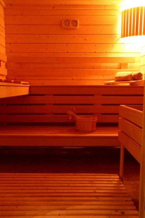 """Espace sauna pour profiter des bienfaits de la chaleur<span class=""""normal italic petit"""">DR</span>"""