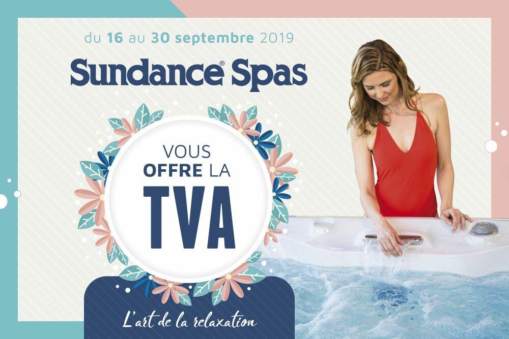 Sundance Spas vous offre la TVA © Sundance Spas