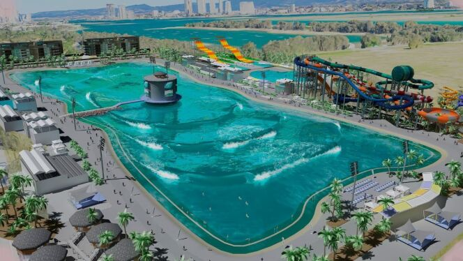 Surf lake une piscine avec 2400 vagues l heure en for Piscine la vague