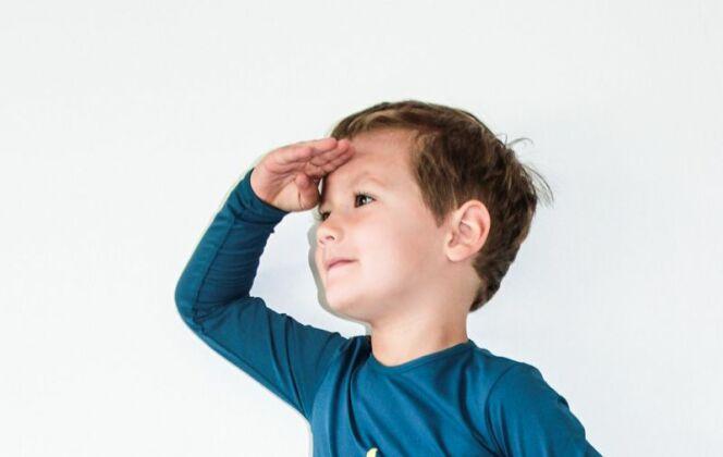 T-shirt anti UV pour garçon, bleu étoile de mer © Les Ultraviolettes