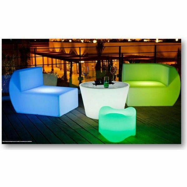 Table basse lumineuse par aquagyms for Table de piscine