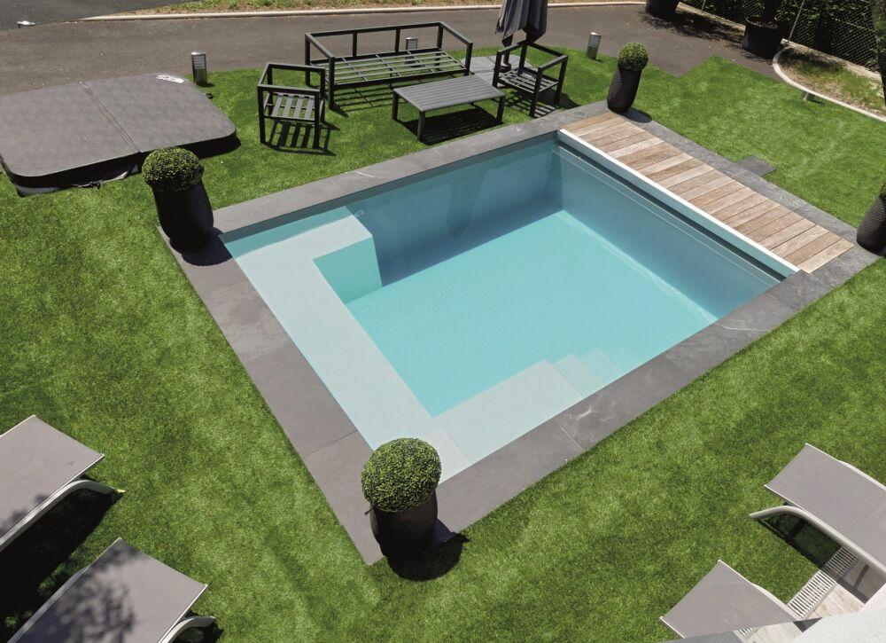 Tendance de l'année Génération Piscine: les piscines coques carrées© Génération Piscine