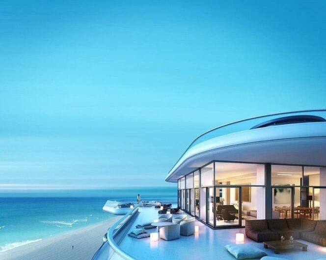 terrasse du penthouse du Faena à Miami