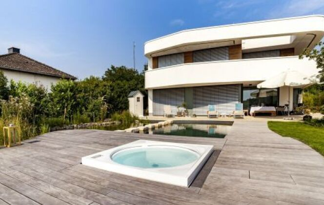 Terrasse et Piscine © Kebony