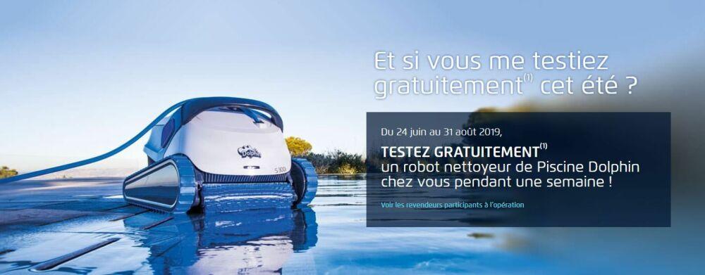 Testez gratuitement votre robot de piscine© Dolphin