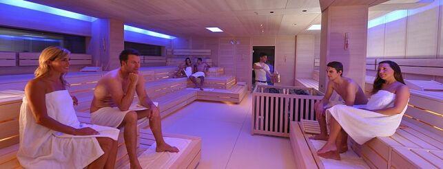 L'espace sauna aux thermes Caracalla à Baden-Baden
