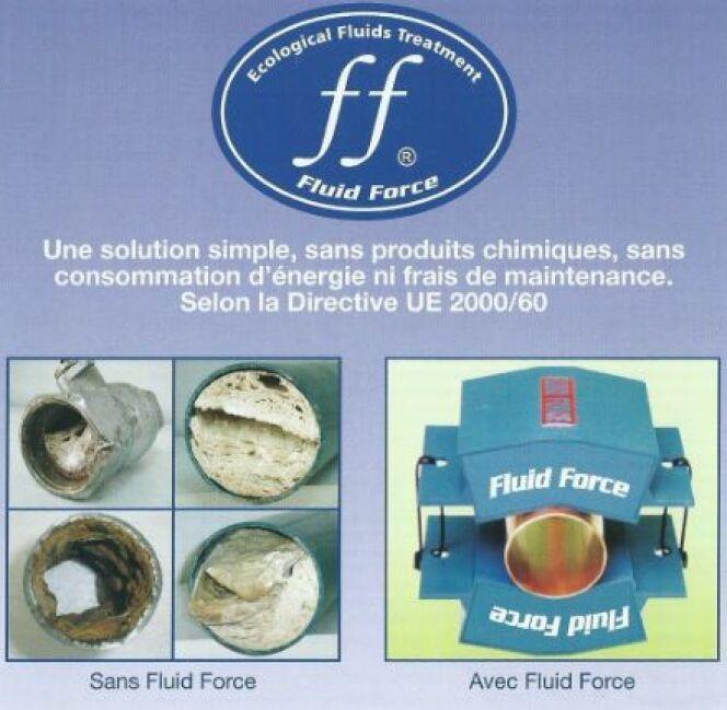 """Traitez l'eau de votre piscine avec la technologie Fluid Force (FF)<span class=""""normal italic petit"""">© Efi Bio Concept</span>"""