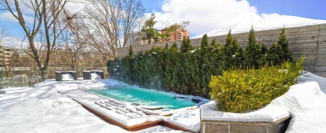 Un spa de nage prendra moins de place qu'une piscine.