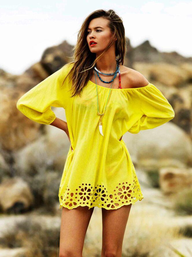 Tunique de plage jaune Satisfaction - Seafolly Beachwear été 2013