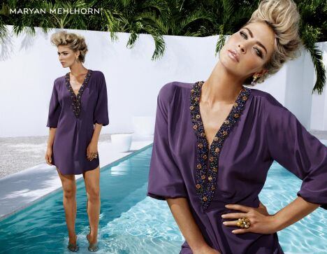 Tunique de plage violette collection Martinez Drops par Maryan Mehlhorn été 2013