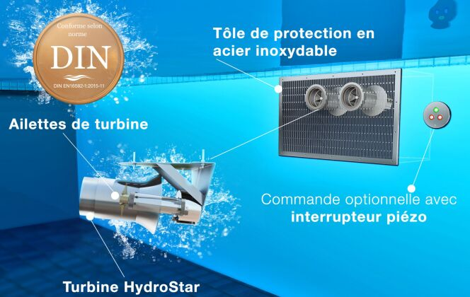 HydroStar est très flexible et offre plusieurs possibilités de design; Il répond également aux dernières normes d'installations dans les piscines privées. © HydroStar - BINDER