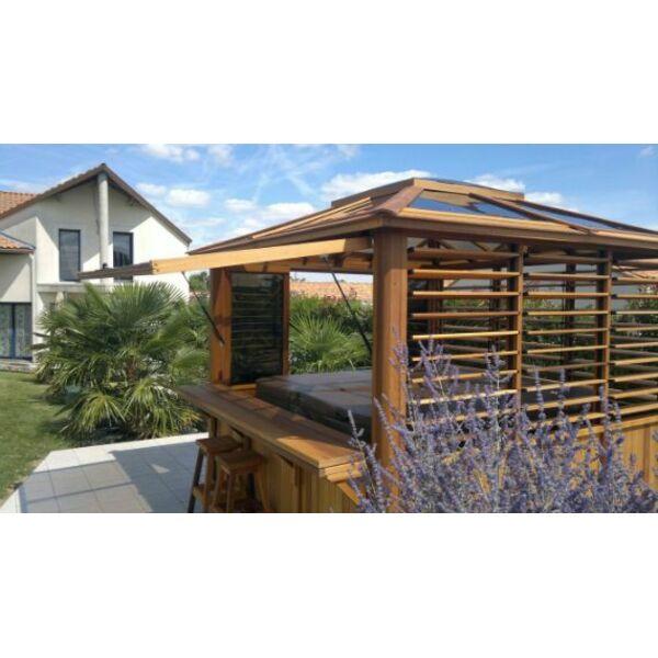 Abri de spa en bois caract ristiques et avantages for Abri exterieur bois