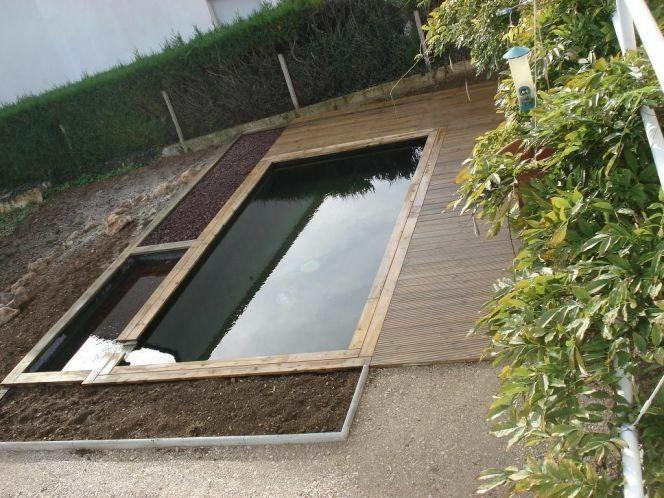 Un bassin naturel permet de se baigner sans produits chimiques.
