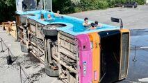 Un bus-piscine dans le Nord de la France