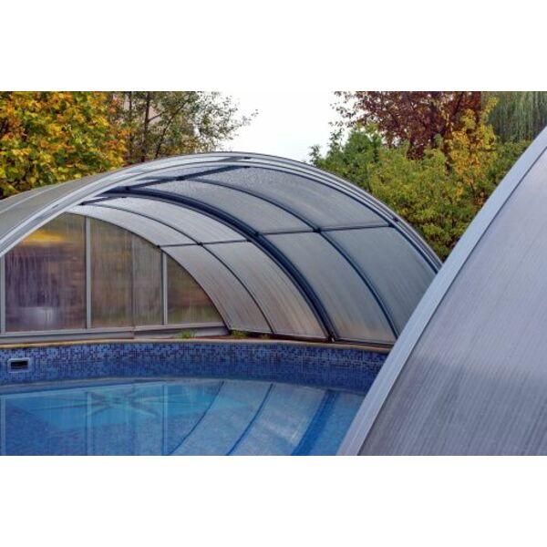 Un chauffage sous un abri de piscine for Chauffage abri piscine