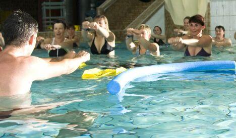 "Un cours d'aquagym à la piscine Nautiland d'Haguenau<span class=""normal italic"">© Nautiland</span>"