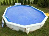 Un enrouleur de bâche pour piscine hors-sol