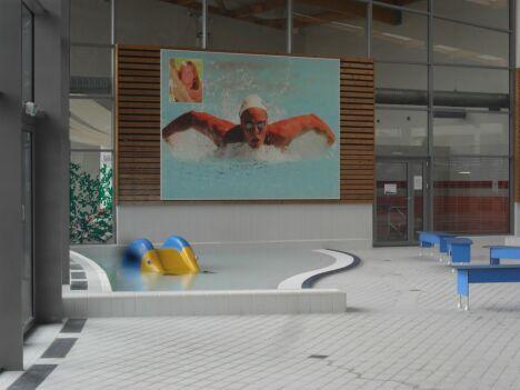 Un espace pataugeoire à la piscine Laure Manaudou d'Amberieu en Bugey