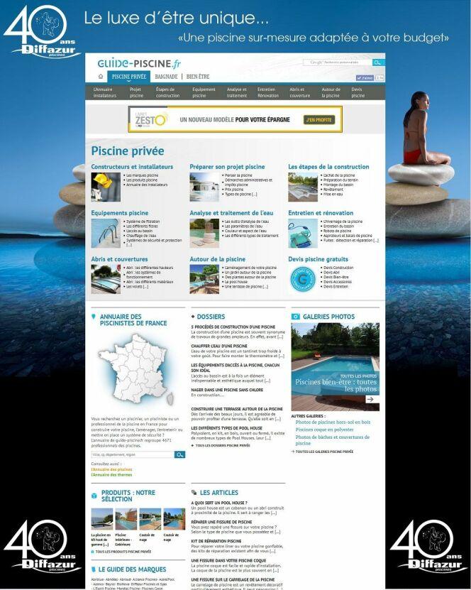 Un exemple d'habillage complet du site internet