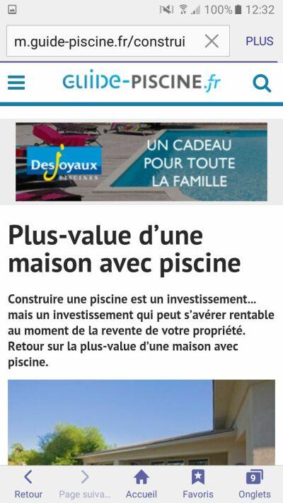 Un exemple de publicité vue sur mobile