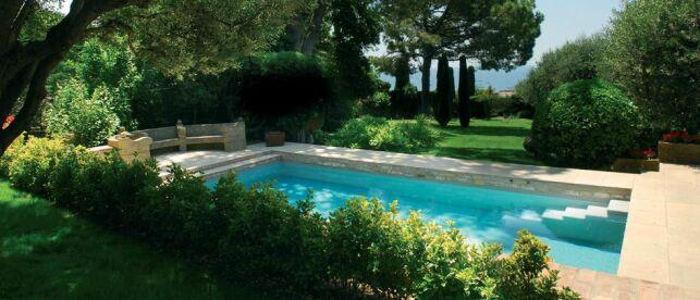 Un jardin verdoyant autour de la piscine
