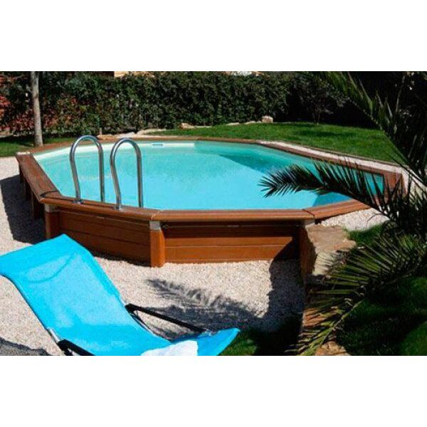 Un liner pour piscine octogonale for Piscine hors sol hexagonale