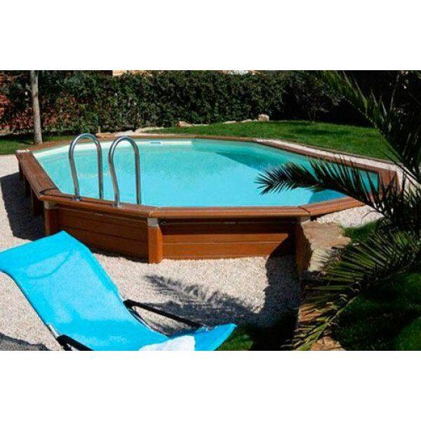 Liner piscine hors sol octogonale piscine hors sol bois for Liner pour piscine bois hexagonale